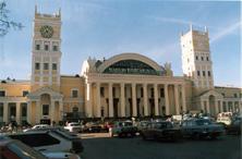 Фасад здания Харьковского вокзала. 2001 год